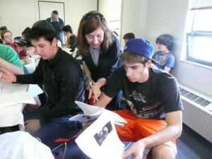 Ann with students - 2